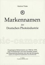 Hartmut Thiele: Markennamen der Deutschen Photoindustrie, 2020 #TH