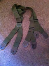 Bretelle de pantalon US kaki originale WW2  bout cuir