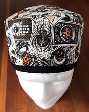 Halloween Theme - Men's Surgical Scrub Hat - Skull Cap