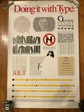 "1987 Vintage Adobe Systems ""Doing It With Type"" Postscript Original Poster 23x35"