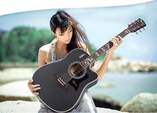 New Black 41 inch Spruce High-Grade Musical Instruments Acoustic Guitar #