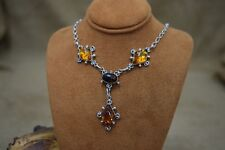 Gorgeous Sterling Silver Amber Necklace