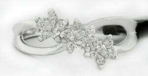 GENUINE SI2 DIAMONDS RING 10k WHITE GOLD **New With Tag** FREE SHIPPING Size 4.5