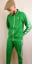 Hummel Archive Full Tracksuit Jacket Trousers Set Medium BNWT Green
