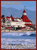 Coronado Island San Diego California United States Travel Advertisement Poster