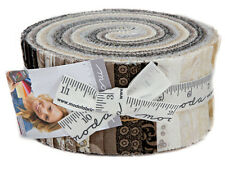 "Moda MAVEN Jelly Roll 2.5"" Precut Fabric Quilting Strips Basic Grey 30460JR"