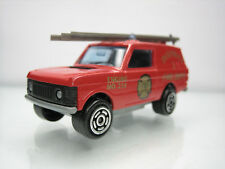 Diecast Majorette Range Rover Fire Engine No. 246 Red Very Good Condition