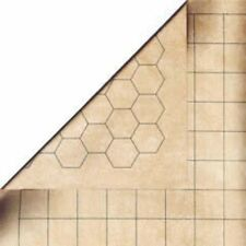 Chessex Double-Sided Reversible Battlemat 1'' Squares & Hexes CHX 96246