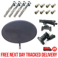 Sky Minidish MK4 Pack Zone 1 + Quad LNB + 8 F Connectors + Fixing Wall Brackets