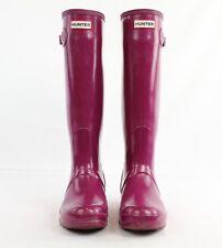 Hunter Purple Rubber Rain Boots Size 7
