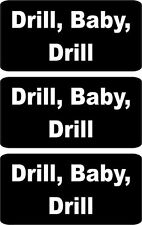 "3 - Drill Baby Drill Hard Hat, Helmet, Iphone Stickers Decal 1"" x 2"" HS-5039"