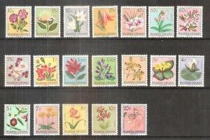 RUANDA-URUNDI : 1955 COB 177-195 Flowers  ** MNH