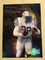 1997 MARSHALL FAULK - FLEER METAL- GOLD UNIVERSE #8 of 10 HOF Colts, Rams
