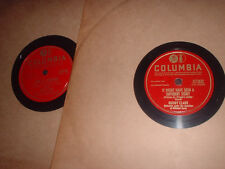 78RPM 2 Columbia by Buddy Clark, Your Breaking My Heart, It Might Have Been a  V
