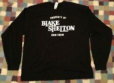 Blake Shelton 2016 Tour Local Crew Long Sleeve Shirt Sz 2XL Black Country