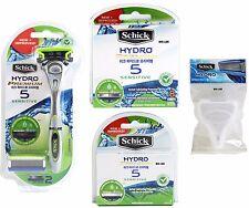Schick Hydro Premium 5 Sensitive 1 Razor + 14 Cartridges Stand + Travel Cover