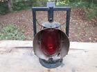 Antique Dietz Acme Inspector Lamp Railroad Lantern C5 Loc-NOB Red Lens **RARE**