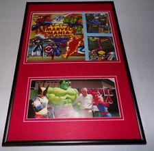 Stan Lee Framed 12x18 Marvel Mania Hollywood Restaurant Menu & Photo Display