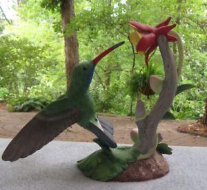 Lenox Garden Birds Collection Broad-Billed Hummingbird Bird Figurine Mint w COA