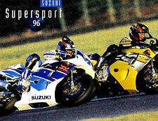 1996 SUZUKI GSX-R SUPER SPORT MOTORCYCLE BROCHURE -GSXR1100WI-GSXR750W-SUZUK