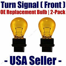 Front Turn Signal/Blinker Light Bulb 2pk Fits Listed Oldsmobile Vehicles 4157NAK