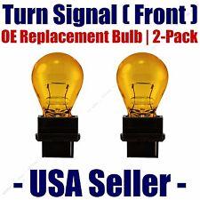 Front Turn Signal/Blinker Light Bulb 2pk Fits Listed Chrysler Vehicles 4157NAK