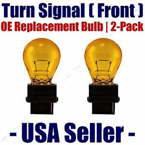 Front Turn Signal/Blinker Light Bulb 2pk Fits Listed Chevrolet Vehicles 4157NAK
