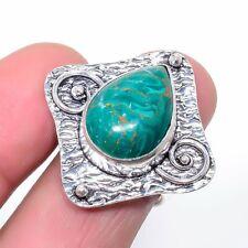Copper Malachite Oxidize 925 Sterling Silver Jewelry Ring s.9 T208450