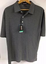 KIRKLAND SIGNATURE Men's Performance Polo Shirt Size XL Grey Pique New With Tags