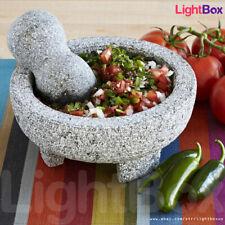 Molcajete Tejolote Mortar Pestle Mexican Granite Guacamole Salsa Spice Grinder