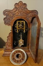 Antique Mahogany? Ansonia Parlor Kitchen Shelf Clock Parts Repair