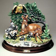 Disney Bambi Capodimonte Laurenz Porcelain  C.O.A. Original Box