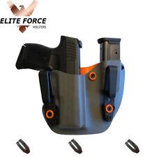 Fits Springfield HELLCAT 9MM Gun IWB Kydex Mag Combo IWB ~ORANGE & GRAY~