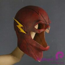 2018 Cosplay The Flash Mask Allen Red Mask Helmet Halloween Full Face Latex Mask