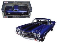 1970 Chevrolet El Camino SS 396 Diecast Model 1:24 Blue - Motormax - 79347BL*