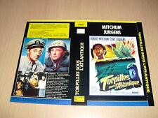 JAQUETTE VHS Torpilles sous l'Atlantique (The Enemy Below) Robert Mitchum