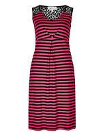 Fa M Ou S High St Store Per Una Red and Black Striped Shift Dress RRP £39.50