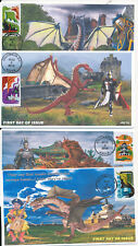 JVC CACHETS - 2018 DRAGONS ISSUE FIRST DAY COVER FDC SET OF FOUR LIMITED EDITION