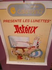 ASTERIX. RARE Affiche PUB Lunettes CALAMAND 1991 avec Obélix, Panoramix, Idéfix