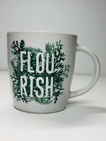 Starbucks Christmas 12 Fl Oz Christmas Tree Branches Flourish White Mug