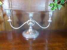 EXCELLENT VINERS ALPHA Silver Plated 3 SCONCE CANDELABRA/CANDLESTICK 19cms/7.5""