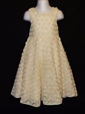 Sz 4 Baby Gap Girls Lace Dress Tan Beige Easter Thanksgiving Christmas Church