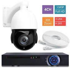 4CH NVR 30X ZOOM IP 1080P 2MP PTZ Speed Dome IR CUT Camera Night IP66 1/3 CMOS