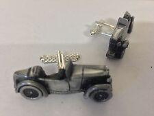 MG M Type   3D classic car pewter effect cufflinks ref139