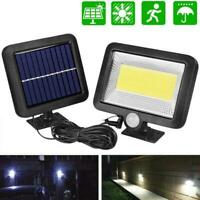 100LED COB Solar Power PIR Motion Sensor Outdoor Garden Lamp Wall Security U9J6