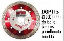 DISCO DIAMANTATO TAGLIO GRES PORCELLANATO PER SMERIGLIATRICE ANGOLARE MM 115