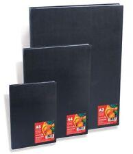 Reeves Black Hardback Sketch Drawing Paper Pad Sketchbook A4 | 80 Sheets