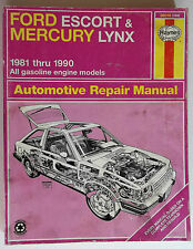 1981-1990 Ford Escort And Mercury Lynx Automotive Repair Manual All Gas Engines
