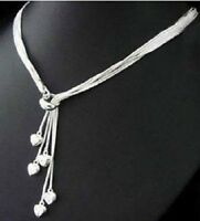 5 Heart Necklace 925 Sterling Silver