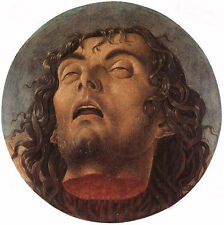 Oil giovanni bellini - Head of the Baptist - Death St. John the Baptist canvas